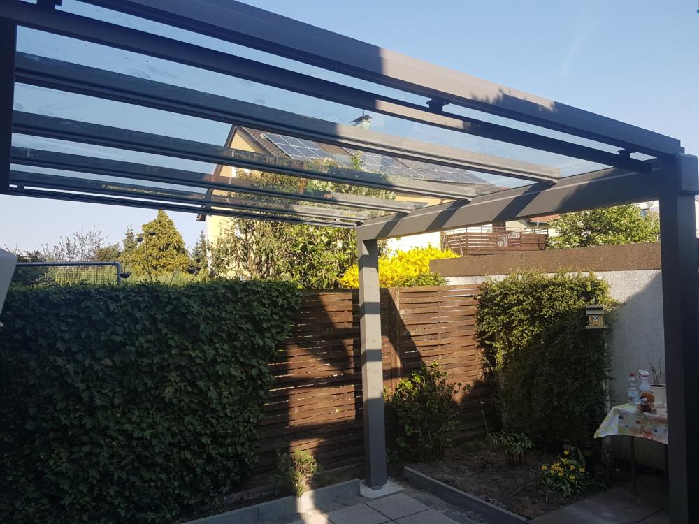 Terrassendach Überdachung Glas