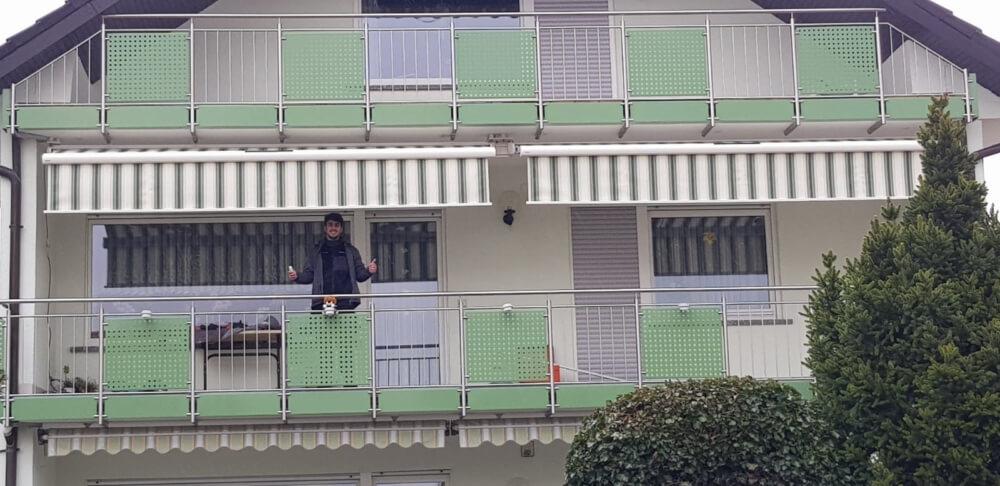Balkon Ausblick grün Schattenvielfalt Team