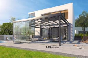 Glas Dach Überdachung Luxus Haus modern