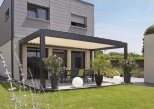 Holzhaus Garten Dach Überdachung