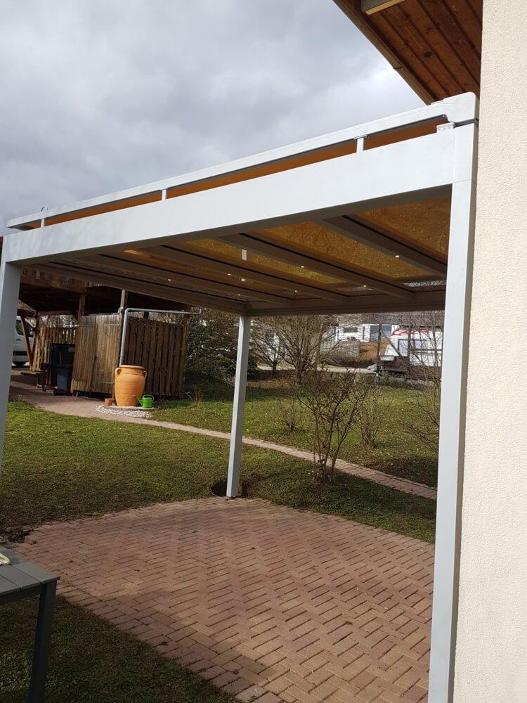 Kubisch Überdachung Dach außen