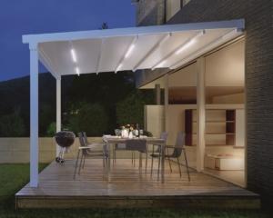 Überdachung Terrasse Nacht Beleuchtung