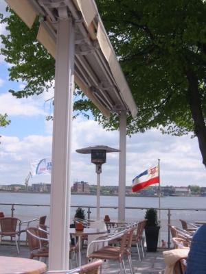 Wasser Gastro Urlaub schöne Aussichten Flagge